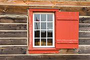 Colorful window, Fort Vancouver National Historic Site, Vancouver, Washington