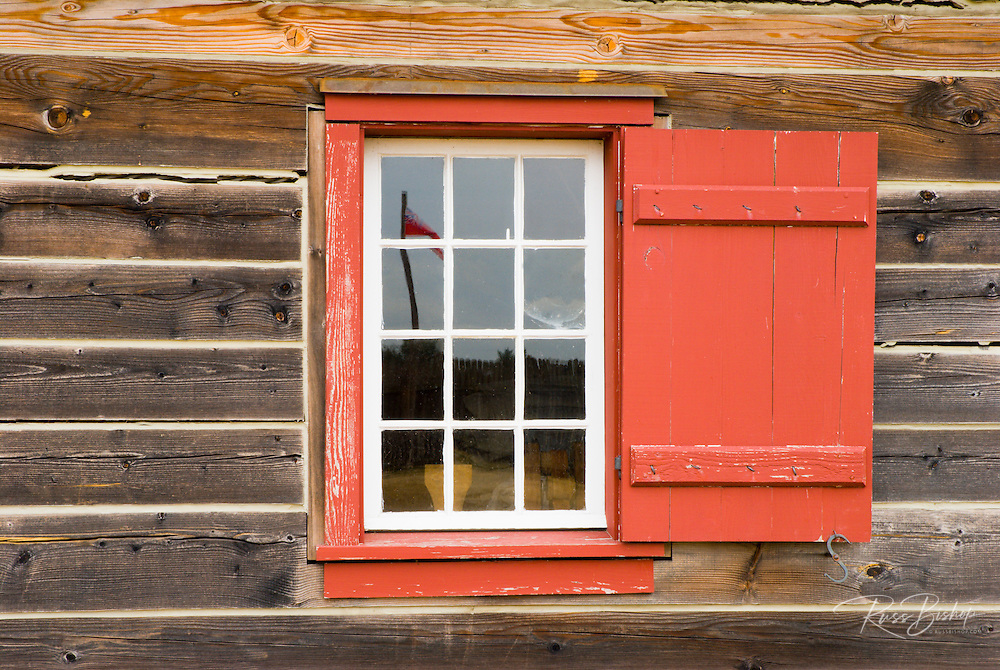 Colorful window, Fort Vancouver National Historic Site, Vancouver, Washington