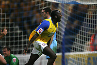 Photo: Paul Greenwood.<br />Chester City v Hereford United. Coca Cola League 2. 12/10/2007.<br />Hereford's Toumani Diagouraga celebrates equalising