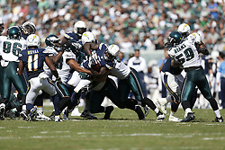 San Diego Chargers running back Ronnie Brown #23 is tackled during the NFL game between the San Diego Chargers and the Philadelphia Eagles at Lincoln Financial Field in Philadelphia, Pennsylvania. The Chargers won 33-30. (Photo by Brian Garfinkel)