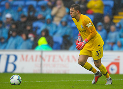 September 22, 2018 - Cardiff City, England, United Kingdom - Ederson of Manchester City in action during the Premier League match between Cardiff City and Manchester City at Cardiff City Stadium,  Cardiff, England on 22 Sept 2018. (Credit Image: © Action Foto Sport/NurPhoto/ZUMA Press)
