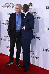 """Jon Voight, Djimon Hounsou at the Paramount Pictures And Pure Flix Entertainment's """"Same Kind Of Different As Me"""" Premiere held at the Westwood Village Theatre on October 12, 2017 in Westwood, California, USA (Photo by Art Garcia/Sipa USA)"""