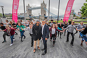 The Mayor of London Sadiq Khan joined choreographer Akram Khan (L) and Londoners as they warmed-up at City Hall for the international Big Dance Pledge. On Friday 20 May, over 40,000 people in 43 countries around the world will take part in the Big Dance event, which has been specially choreographed by Akram Khan. Among the Londoners were: Students from University of Roehampton; MovE17 community group; Children from John Scurr Primary School; and the Croydon Community Dance group. This year is the finale of Big Dance, celebrating ten years of grassroots and community dance.