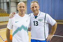 Mladen Rudonja and Tomaz Vnuk during football and basketball charity event All Legends by Olimpiki, on June 9, 2015 in Hala Tivoli, Ljubljana, Slovenia. Photo by Vid Ponikvar / Sportida