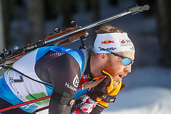 Eder Simon of Austria competes during the IBU World Championships Biathlon 4x7,5km Relay Men competition on February 20, 2021 in Pokljuka, Slovenia. Photo by Vid Ponikvar / Sportida
