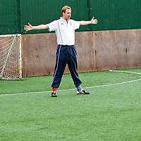 Newcastle, England 18th Oct  Prince William visits the FA West Gate Community Sport Centre for which provides Football opportunities for 7-16years old