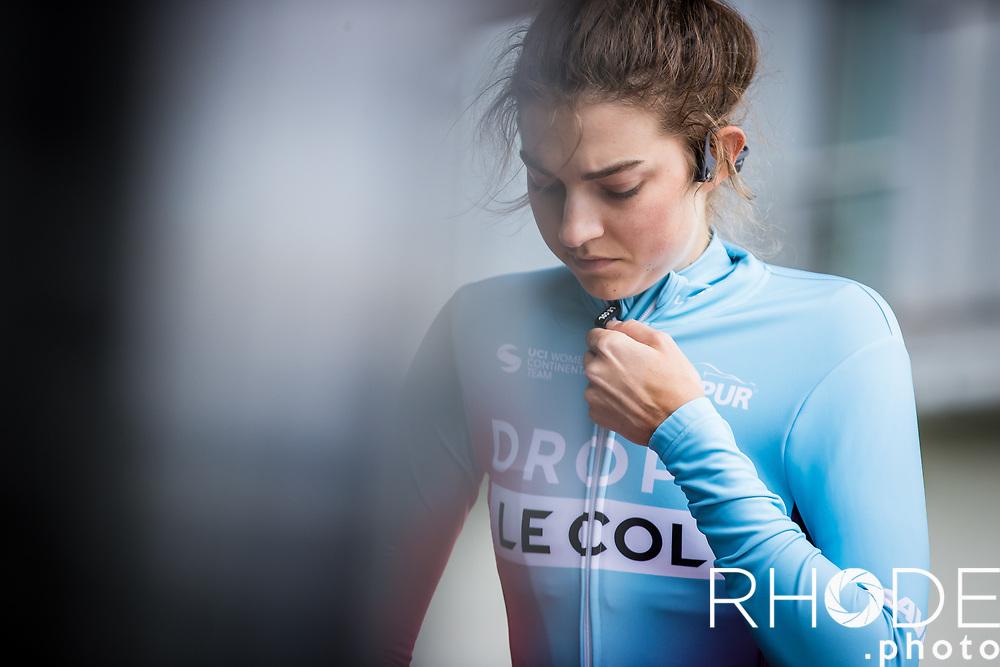 Finja Smekal (GER/Drops-Le Col), pre race, <br /> <br /> Ceratizit Festival Elsy Jacobs (LUX) 2021<br /> UCI Women Elite 2.1<br /> Day 1 - prologue : Individual Time Trial (ITT) – Cessange (LUX) 2.2km <br /> <br /> ©RhodePhoto