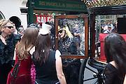Sebastian Horsley funeral. St. James's church. St. James. London afterwards in the church garden. July 1 2010. -DO NOT ARCHIVE-© Copyright Photograph by Dafydd Jones. 248 Clapham Rd. London SW9 0PZ. Tel 0207 820 0771. www.dafjones.com.