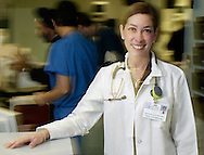 Times Herald-Record/TOM BUSHEY.Dr. Joanne Magro poses for a portrait in the emergency room of Orange Regional Medical Center's Horton campus on Dec. 1, 2004.