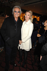 FLAVIO BRIATORE and TAMARA VERONI at a party to celebrate the first year if ING's sponsorship of the Renault Formula 1 team, held at the Mayfair Hotel, Stratton Street, London W1 on 28th November 2007.<br />