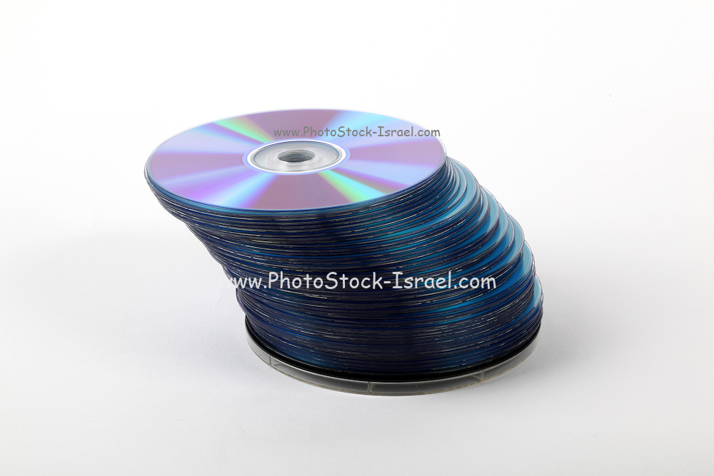 A stack of recordable discs