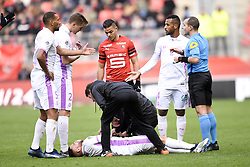October 28, 2018 - Rennes, France - 08 MARVIN MARTIN (REI) - BLESSURE (Credit Image: © Panoramic via ZUMA Press)