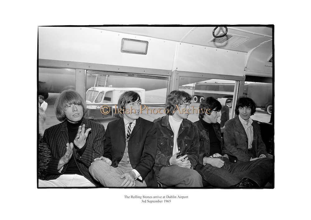 The Rolling Stones arrive at Dublin Airport.<br /> <br /> 3rd September 1965<br /> 03/09/1965