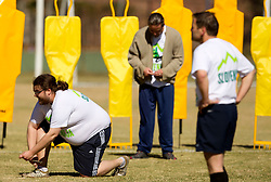 Luka Petric and Rok Plestenjak during friendly match between Slovenian football journalists and officials of Slovenian football federation at  Hyde Park High School Stadium on June 16, 2010 in Johannesburg, South Africa.  (Photo by Vid Ponikvar / Sportida)