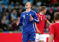 Fotball , 01. april 2009 , Privatkamp , Norge - Finland<br /> Norway - Finland<br /> Mikael Forssell , Finland