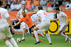 05-06-2010 VOETBAL: NEDERLAND - HONGARIJE: AMSTERDAM<br /> Nederland wint met 6-1 van Hongarije / Wesley Sneijder<br /> ©2010-WWW.FOTOHOOGENDOORN.NL