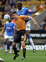 Photo: Paul Thomas.<br /> Wolverhampton Wanderers v Birmingham City. Coca Cola Championship. 22/04/2007.<br /> <br /> Darren Potter (L) of Wolves is fouled by Fabrice Muamba.