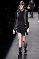 Vanessa Moody (WOMEN) walks the runway wearing Alexander Wang Fall 2015 during Mercedes-Benz Fashion Week in New York on February 14, 2015