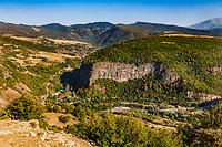 landscape of Lorri region province near Hnevank Armenia eastern Europe
