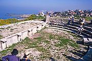 Roman amphitheatre at archaeological site ruins of ancient Byblos, Lebanon 1998