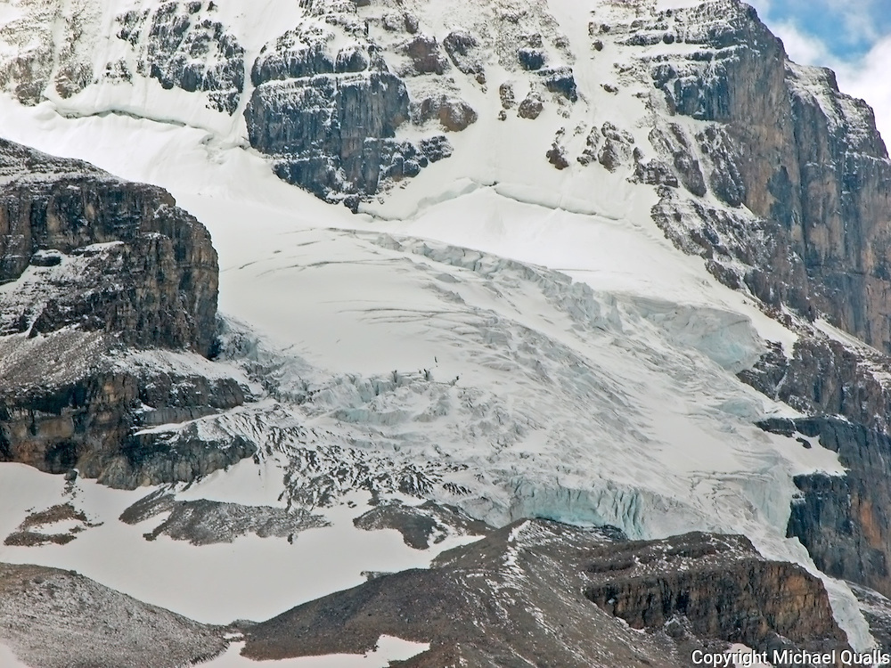 Hanging Glacier along the Icefields Parkway in Alberta Canada