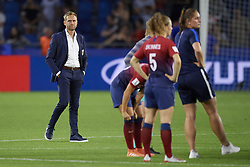 June 27, 2019 - Le Havre, France - Martin Sjorgren coach of Norway after the 2019 FIFA Women's World Cup France Quarter Final match between Norway and England at  on June 27, 2019 in Le Havre, France. (Credit Image: © Jose Breton/NurPhoto via ZUMA Press)