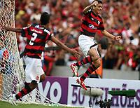 20091206: RIO DE JANEIRO, BRAZIL - Flamengo vs Gremio: Brazilian League 2009 - Flamengo won 2-1 and celebrated the 6th Brazilian Championship of its history. In picture: Ronaldo Angelim (Flamengo) celebrating winning goal. PHOTO: CITYFILES
