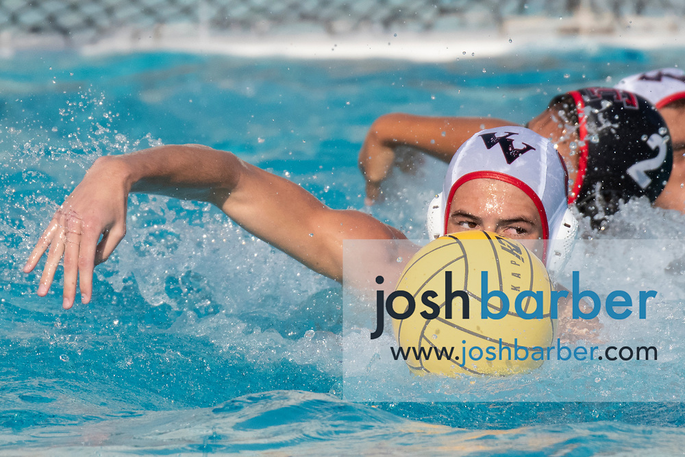 Valley View's Jacob Renevier during the CIFS-SS Division 6 Championship Final at William Woollett Jr. Aquatic Center on Saturday, November 10, 2018 in Irvine, Calif. Valley View won 10-9. (Photo by Josh Barber, Contributing Photographer)