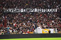 Striscione tifosi Roma su Campo Testaccio <br /> Roma 31-10-2013 Stadio Olimpico<br /> Football Calcio Campionato Italiano Serie A 2013/2014 <br /> AS Roma - Chievo <br /> Foto Andrea Staccioli Insidefoto