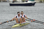 Henley, GREAT BRITAIN. Double Sculls Challenge cup. Leander club. winning the final at 2012 Henley Royal Regatta.  ..Sunday  14:48:19  01/07/2012. [Mandatory Credit, Peter Spurrier/Intersport-images]...Rowing Courses, Henley Reach, Henley, ENGLAND . HRR.