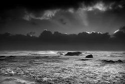 Storm and rough sea near Dyrholaey, south Iceland - stormur við Dyrhólaey