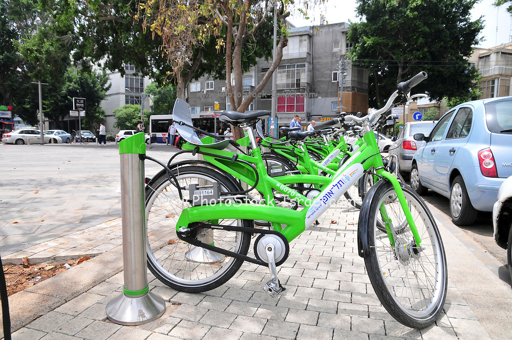 Israel, Tel Aviv, Municipal bicycle rental service now available to all residents and visitors