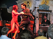 """Artists perform at El Viejo Almacen, a well known tango dance performance hall in San Telmo (""""Saint Pedro González Telmo""""), the oldest barrio (neighborhood) of Buenos Aires, in Argentina, South America."""