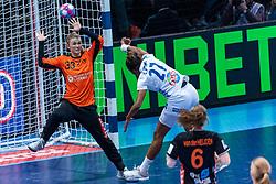 14-12-2018 FRA: Women European Handball Championships France - Netherlands, Paris<br /> Second semi final France - Netherlands / Tess Wester #33 of Netherlands , Estelle Nze Minko #27 of France