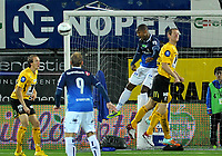 Fotball Herrer Tippeligaen 2013<br /> Marienlyst Stadion Gamle Gress  27.10.2013<br /> <br /> Strømsgodset vs Start<br /> <br /> Resultat <br /> <br /> Foto: Robert Christensen Digitalsport<br /> <br /> Strømsgodset Ola Kamara med god sjanse<br /> <br /> Start Glenn Andersen
