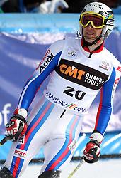 Steve Missillier at 9th men's slalom race of Audi FIS Ski World Cup, Pokal Vitranc,  in Podkoren, Kranjska Gora, Slovenia, on March 1, 2009. (Photo by Vid Ponikvar / Sportida)