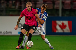 "Simon Gustafson #10 of Utrecht in action. FC Utrecht convincingly won the practice match against sc Heerenveen. The ""Domstedelingen"" were too strong for SC Heerenveen in Stadium Galgenwaard with 4-1<br /> on August 20, 2020 in Utrecht, Netherlands"