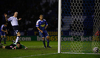 Photo: Steve Bond/Sportsbeat Images.<br />Leicester City v West Bromwich Albion. Coca Cola Championship. 08/12/2007. keeper Martin Fulop looks on despairingly as the late winner hits the back of his net