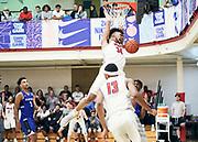 NORTH AUGUSTA, SC. July 10, 2019. Davion Bradford 2020 #34 of MoKan Elite 17U at Nike Peach Jam in North Augusta, SC.  <br /> NOTE TO USER: Mandatory Copyright Notice: Photo by Eric Delgado / Jon Lopez Creative /Nike