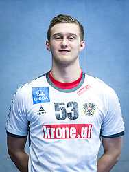 "14.01.2017, BSFZ Südstadt, Maria Enzersdorf, AUT, ÖHB, Fototermin Herren Nationalteam, im Bild Mykola ""Nikola"" Bilyk (AUT) // during a Portrait Photoshoot of the Austrian men' s handball National Team at the BSFZ Südstadt, Maria Enzersdorf, Austria on 2017/01/14, EXPA Pictures © 2017, PhotoCredit: Stiegl/ EXPA/ Sebastian Pucher"