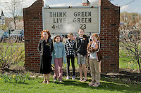Think Green Week celebrated at Laconia High School April 19, 2010.