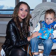 NLD/Amsterdam/20130918 - Reünie NCRV jeugdserie Spangas, Mounira Hadj Mansour en zoontje Noah