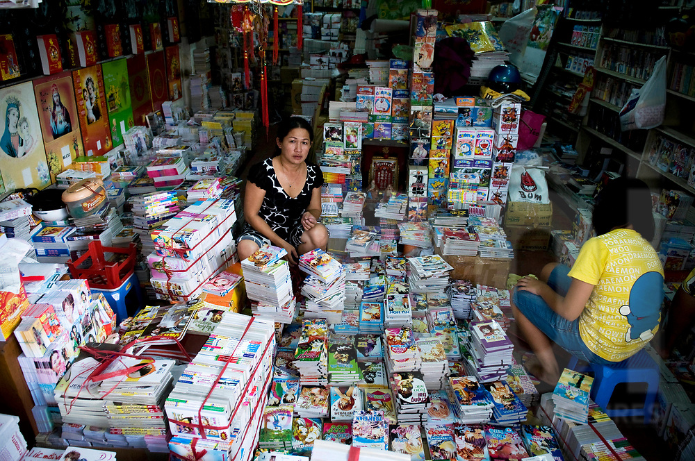 Bookstore in Ho Chi Minh city, Vietnam, Southeast Asia