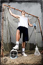 "04 January 2009: Logan Corey, varsity lacrosse player at the University of North Carolina of Chapel Hill.  Born 3/5/90.  From Chapel Hill, NC.  6'1"" 170."