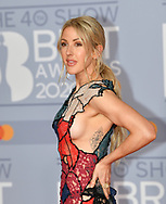 The 40th BRIT Awards show  Tuesday 18th February at The O2 Arena in London.<br />Ellie Goulding