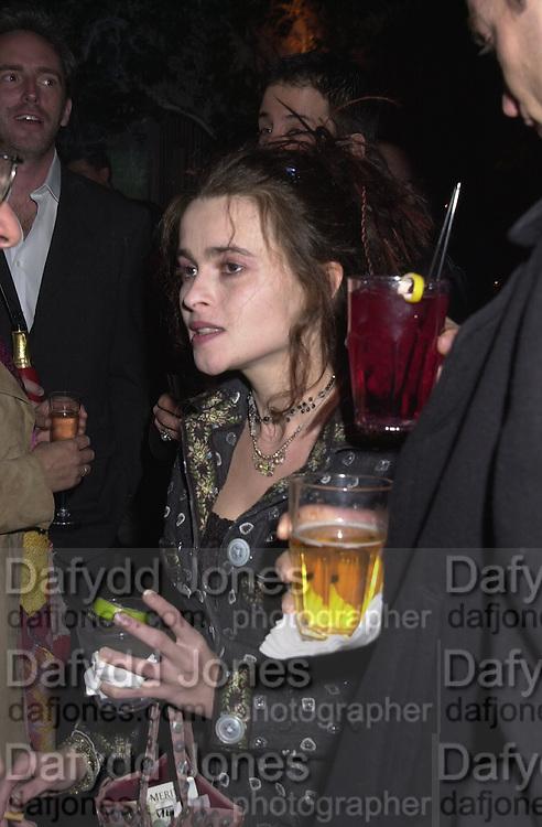 Helena Bonham-Carter, Talk pre-Golden Globes party. Mondrian Hotel. 20 January 2001. © Copyright Photograph by Dafydd Jones 66 Stockwell Park Rd. London SW9 0DA Tel 020 7733 0108 www.dafjones.com