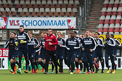 the players of Sparta at the warming up during the training session at the Sparta stadium the Kasteel on January 02, 2018 in Rotterdam, The Netherlands