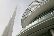 Dubai's Burj Khalifa, the tallest building in the world, under construction