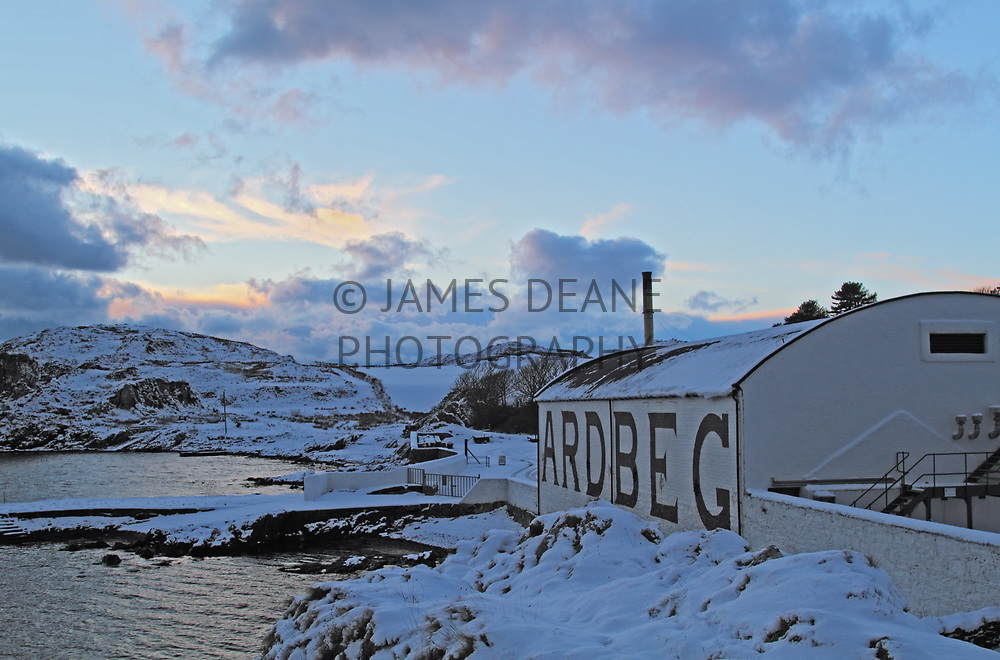 A late scene at Ardbeg during an icy spell shortly before Christmas in 2010