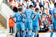 Sunderland midfielder Max Power (27), on loan from Wigan Athletic, is sent off and receives a red card  during the EFL Sky Bet League 1 match between Bradford City and Sunderland at the Northern Commercials Stadium, Bradford, England on 6 October 2018.